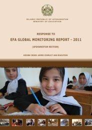 Response to EFA Global Monitoring Report - 2011