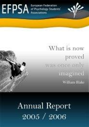 Annual Report 2005-2006 - EFPSA