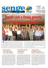 Sindicatos temem privatização da Copasa Senge ... - Senge-MG
