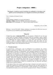 Projet « Intégration – MMM - Groupe d'Étude des Méthodes de l ...