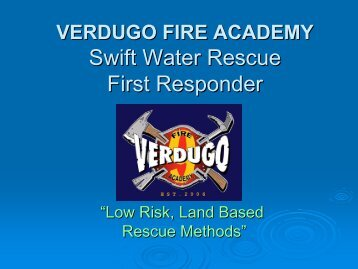 SwiftWater Rescue First Responder - Glendale Community College