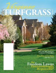 Virginia Turfgrass Council / P.O. Box 5989 / Virginia ... - The Paginator