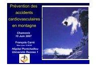 prévention des accidents cardiovasculaire en montagne - Club des ...