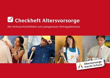 Checkheft Altersvorsorge