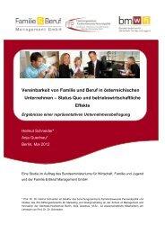 Vereinbarkeit von Familie und Beruf in österreichischen Unternehmen