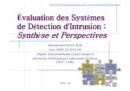 Evaluation des IDS-Rump session-SSTIC05 - Actes du SSTIC