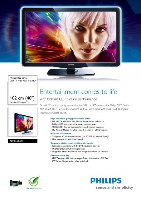 Philips 40PFL5605H/12 LCD TV Drivers for Windows 10