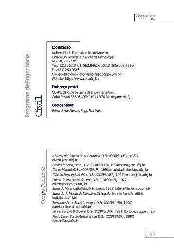 catalogo COPPE-cor - Coppe - UFRJ