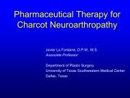 Pharmacological Management of Charcot - Healthcare Professionals