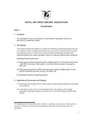 ROYAL AIR FORCE WIDOWS' ASSOCIATION Constitution - RAF ...