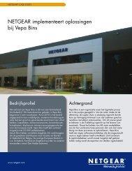 NETGEAR implementeert oplossingen bij Vepa Bins