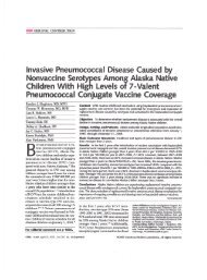 Invasive Pneumococcal Disease Caused by Nonvaccine Serotypes ...