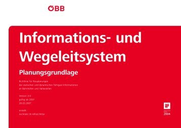 Informations- und Wegeleitsystem Planungsgrundlage - ÖBB