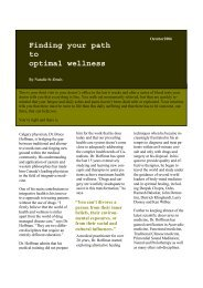 Finding your path to optimal wellness - Hoffman Centre for ...