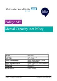 M9 - WLMHT Mental Capacity Policy - West London Mental Health ...