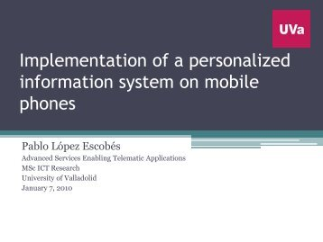 Implementation of a personalized information system on mobile ...