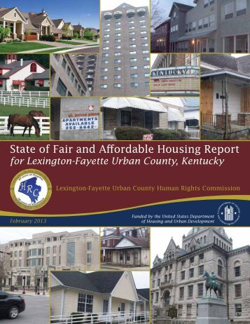 State of Fair and Affordable Housing Report for Lexington-Fayette ...