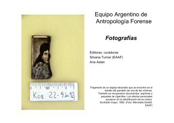 Equipo Argentino de Antropologia Forense ... - Justicia Forense
