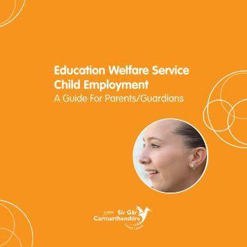 Child Employment. A Guide For Parents/ Guardians