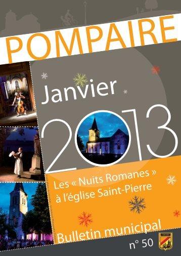 Télécharger le bulletin municipal Janv. 2013 Pompaire(.pdf 16Mo)
