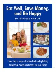 Eat Well, Save Money, and Be Happy