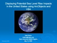 Displaying Potential Sea Level Rise Impacts in the United States ...