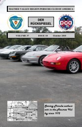 Volume 37 Issue 10, October 2010 - Maumee Valley - Porsche Club ...