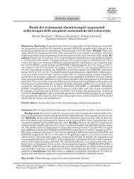 Ruolo dei trattamenti chemioterapici sequenziali nella terapia delle ...