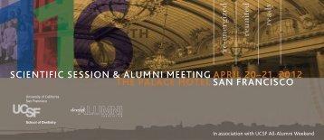 UCSF Scientific Session 2012 - UCSF Alumni