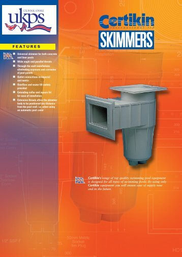 Download the Certikin Skimmers Brochure PDF Here - UK Pool Store