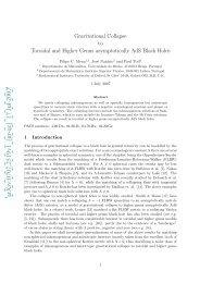 arXiv:0707.2519v1 [gr-qc] 17 Jul 2007 - Departamento de ...