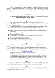 JAVNI POZIV udrugama za predlaganje Programa javnih potreba u ...