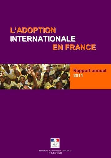 Rapport d'activité 2011 de l'Autorité Centrale - (PDF, 1.2 Mo)