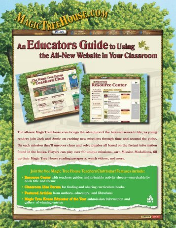 Join the free Magic Tree House Teachers Club today! Features include