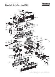 Einzelteile der Lokomotive 37283