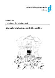 Albanisch Broschüre Hinweise Schulbetrieb 09-2012 - Psgarbon.ch
