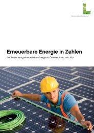 Erneuerbare Energie in Zahlen 2011 - Lebensministerium