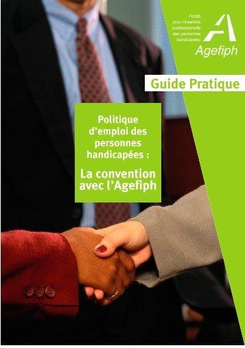 la convention avec l'AGEFIPH (guide pratique) - Handiplace