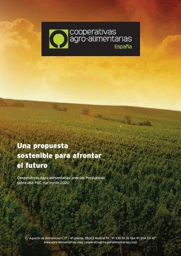 Una propuesta sostenible para afrontar el futuro - Cooperativas ...