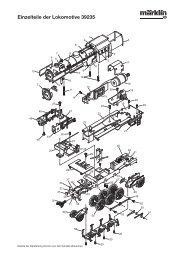 Einzelteile der Lokomotive 39235