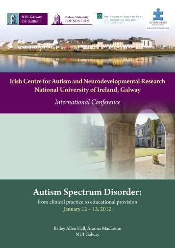 Irish Centre For Autism And Neurodevelopmental ... - Conference.ie