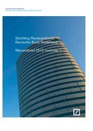 Nieuwsbrief Pensioenfonds - nummer 1 - Deutsche Bank