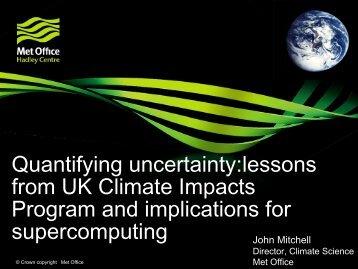 Estimating Uncertainty - John MITCHELL - IS-ENES