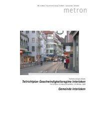 Teilrichtplan Geschwindigkeitsregime Interlaken ... - Pro Stedtli