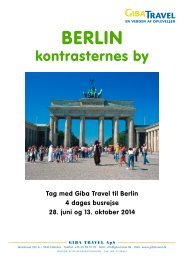 i Berlin og Dresden - GIBA Travel