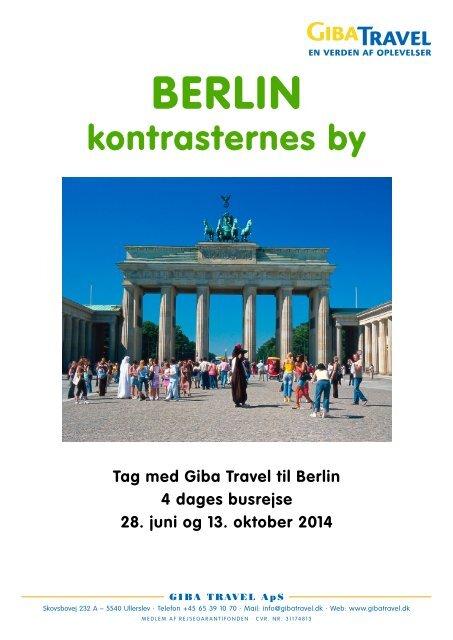 i Berlin og Dresden - GIBA Travel