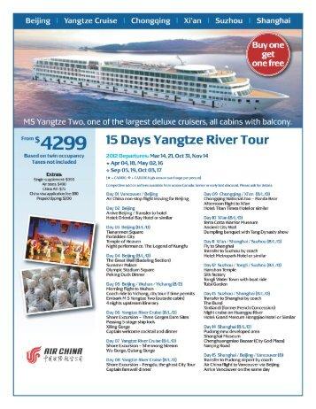 Yangtze Cruise Chongqing l Xi'an Suzhou Shanghai - tcasia.ca