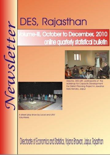 DES, Rajasthan - Directorate of Economics & Statistics ...