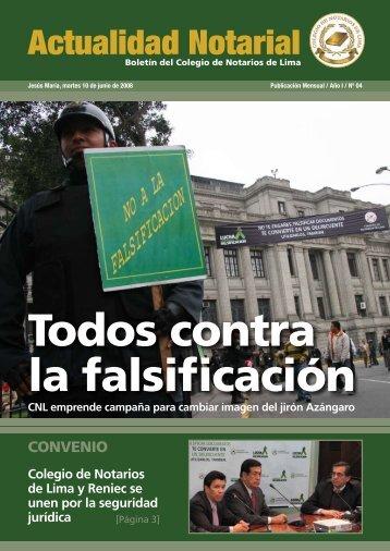Actualidad Notarial - Colegio de Notarios de Lima
