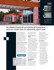 The DORMA ESA200-HP and ESA300-HP Sliding Doors ...
